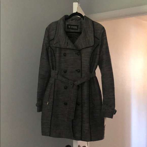 Guess Jackets & Blazers - Guess Coat with Belt and Double-Button Front